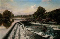 boulter's weir, old windsor by walter h. goldsmith