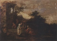 rebecca and eliezer at the well by jan snellinck the elder
