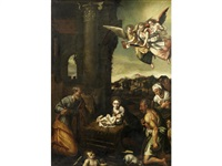 the adoration of the shepherds by bassano family
