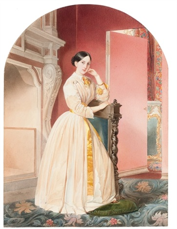 portrait of grand duchess maria nikolaevna by vladimir ivanovich hau