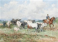 cattle and drover by giuseppe gabani