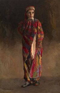 girl in oriental clothes by pavel nikolaevich filonov