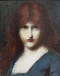 portrait of a girl by jean jacques henner