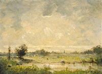 la plaine de barbizon by théodore auguste rousseau