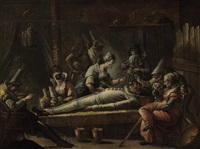 the death of pulcinello by francesco zugno the younger
