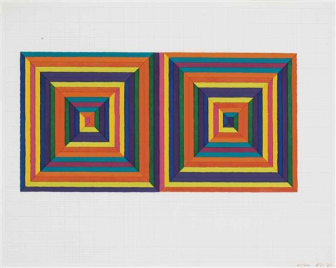 fortín de las flores first version from ten from leo castelli by frank stella