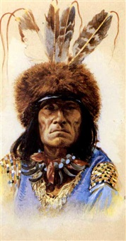 american indian chiefs (group of forty-eight tobacco cards) by frederick lindner