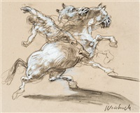 le cavalier by claude weisbuch