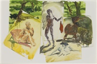study for the life of pigeons by eric fischl