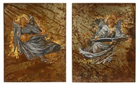 urban angels (a diptych) by komar and melamid