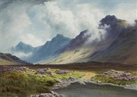 sunshine and shadow, glen sannox, arran by donald a. paton