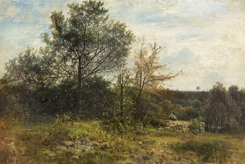 landschaft mit wanderer by jean alexis achard