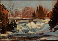 rapids, gull river, haliburton by william walker alexander