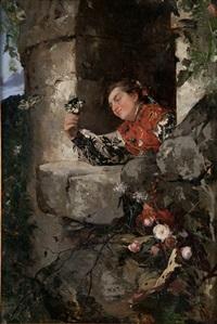 joven en el balcón by angel lizcano monedero