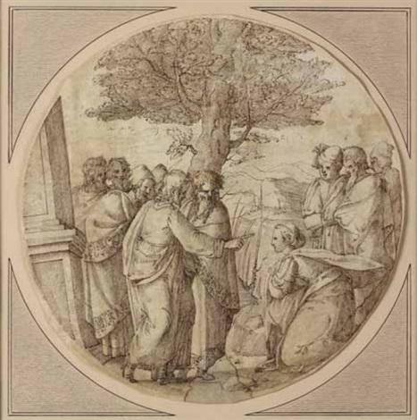 cristo e ladultera by ercole setti