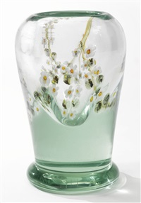 rare aquamarine exhibition vase by louis comfort tiffany