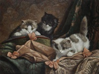 playing kittens by cornelis raaphorst