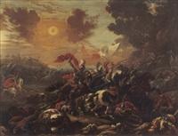 battaglia di giosuè contro gli amaleciti by vincent adriaensz