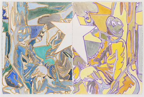 untitled (diptych) by david salle