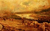 pastore con gregge by filippo carcano