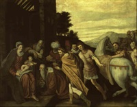 the adoration of the magi by giuseppe (salviati) porta