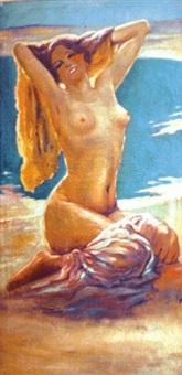 nu sur la plage by leopoldo metlicovitz