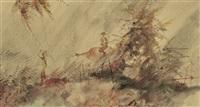 village scene by romeo v. tabuena