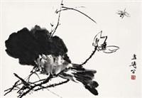 荷花蜻蜓 by wang xuetao