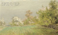 spring landscape by albert babb insley