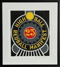 the american dream: high ball redball manifest by robert indiana
