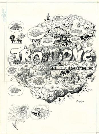 Le Trombone Ilré Color Sheet 2 Works By André Franquin