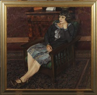 femme dans un intérieur by louis thevenet