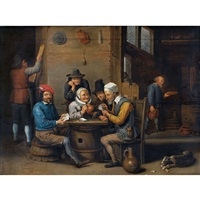 schenkeninterieur mit kartenspielern by david teniers the younger