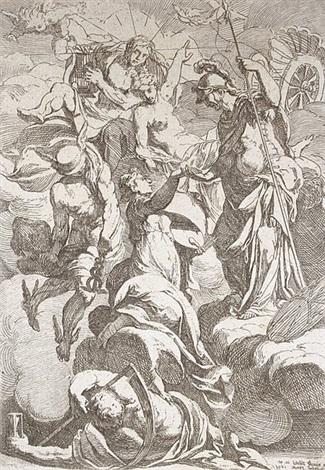athena mit den musen und allegorischen darstellungen des lichts der harmonie und der zeit by antoine rivalz