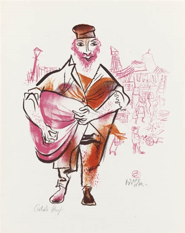 the shtetl portfolio of 24 by william gropper