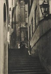 ulica kamienne schodki w warszawie (?) by leonard sempolinski