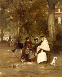 an afternoon in the park by ferdinand bassot