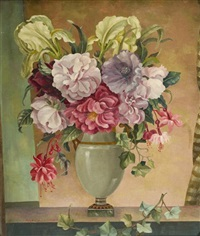 flowers and vase by william ernest maurice fletcher
