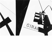 double frame: girard street sign 65 ma 17-18 by ray k. metzker