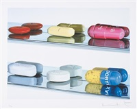 six pills (large) by damien hirst