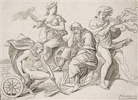 diana auf dem wagen (after giulio romano) by nicolas le sueur