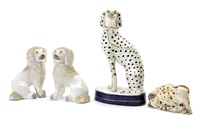 animal figurines (8 works) by staffordshire