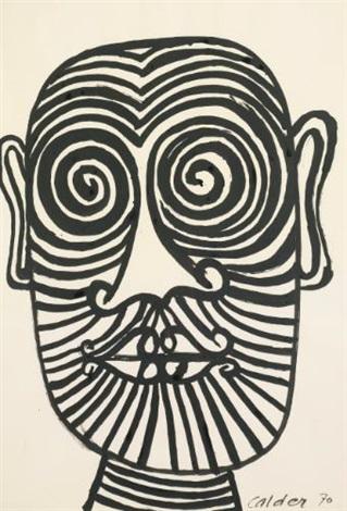 striped face by alexander calder