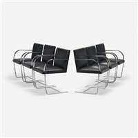 brno chairs (set of 6) by ludwig mies van der rohe
