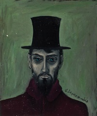 man in a top hat by gertrude abercrombie