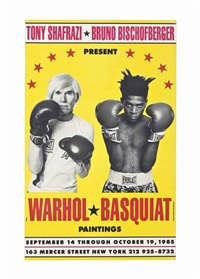 poster for warhol/basquiat paintings by jean-michel basquiat and andy warhol