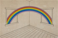 rainbow through windows by patrick hughes