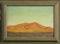 desert landscape by victor clyde forsythe