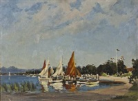 the yacht club by george william pilkington
