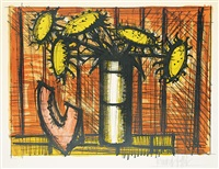 untitled - still life with sunflowers by bernard buffet